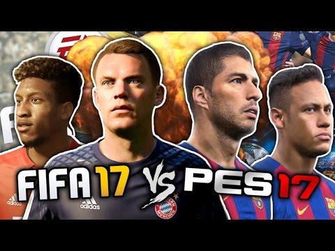 FIFA 17 vs. PES 2017 The Ultimate Football Game FFO
