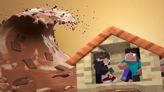 Minecraft: DESAFIO DA BASE 100% SEGURA CONTRA TSUNAMI DE CHOCOLATE ‹ JUAUM ›