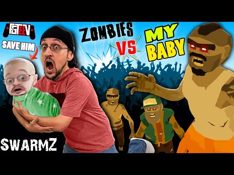 SAVE THE BABY from ZOMBIES SwarmZ FGTeeV