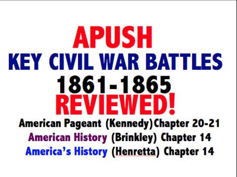 American Pageant Chapter 20-21 Civil War Battles APUSH Review