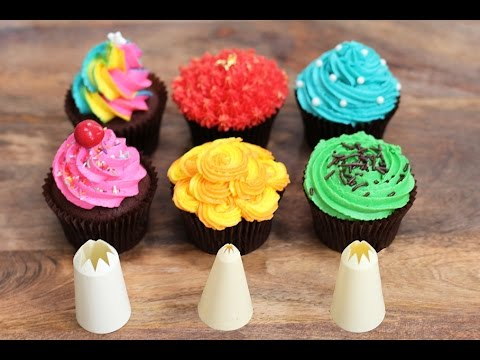 6 Best Cupcake Frosting Styles using a STAR Piping Tip. Perfect Cupcakes!