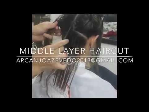 Corte de cabelo médio em camadas NOVO cutting Hair medium Layer