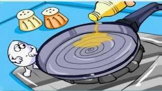 Huevos Cartoon Un Huevo en la Cocina