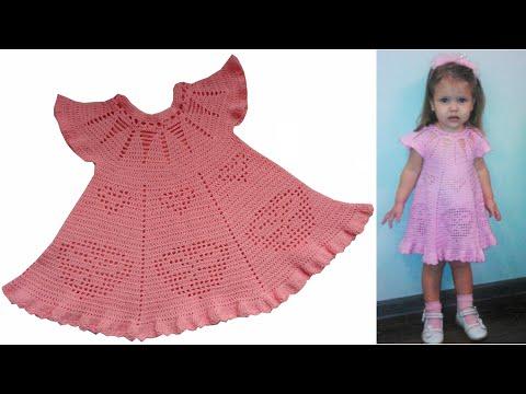 платье на малышек крючком