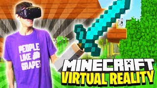 MINECRAFT SURVIVAL IN VR! (Mixed Reality)
