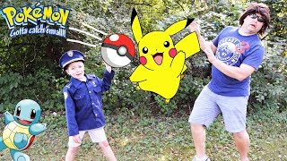 Sketchy Mechanic steals Pokemon Pokeball and releases Picachu! Epic silly funny kids video