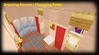 Minecraft - How To Make A Clothes Store Dressing Room | Changing Room