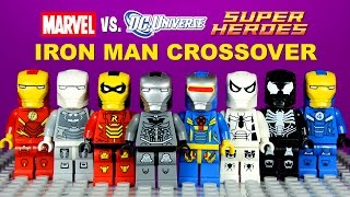 LEGO Iron Man DC vs Marvel Crossover Armory KnockOff Minifigures Batman Spider-Man Set 1