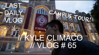 College Campus Tour (kind of)    Fordham University - The LAST Daily Vlog