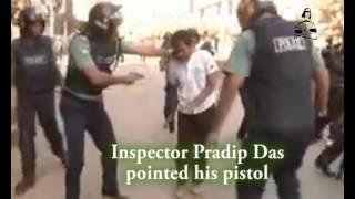 BANGLADESH: Police officer shot a young man pointing pistol at head