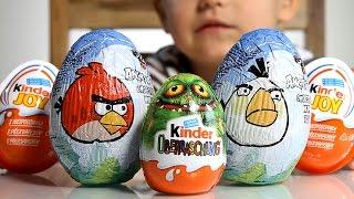 2x Angry Birds Surprise Eggs + Kinder Surprise MU Egg + Kinder Joy