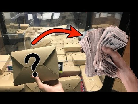 WON 1 000 CASH FROM MYSTERY BOX CLAW MACHINE JOYSTICK
