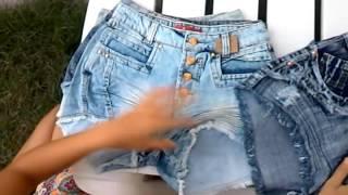 Compre Short jeans hot pants, cintura alta, em promoção de R$ 38,00 por apenas R$ 25,00