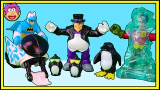Imaginext Arctic Batman rescues a talking Penguin kidnapped by Bane and the Penguin @ OzToyReviews