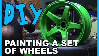 How to Spray Paint Wheels with Professional Results!