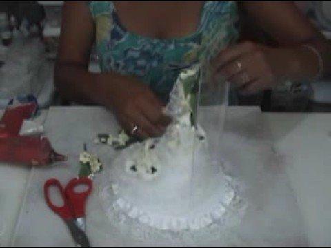 Tutorial Como hacer una adorno de torta para bodas How to make a wedding cake topper