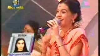 Idea Star Singer Mega final Durga singing