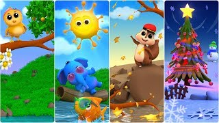 The Seasons Song | Cartoon for Kindergarten Kids | Learning Video for Preschool Children by Farmees