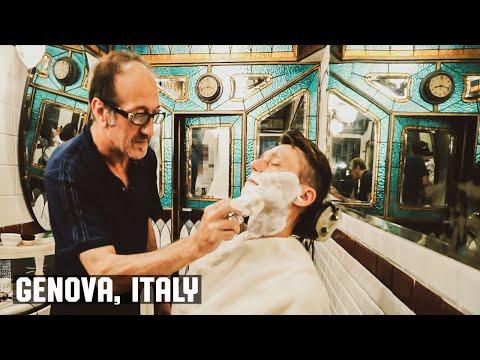 Art Nouveau Antica Barberia Giacalone  Wet Shave Experience Genova Italy