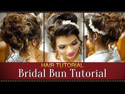 Xxx Mp4 Step By Step Indian Bridal Bun Hairstyle Tutorial Video Bridal Hairstyles For Asian Wedding 3gp Sex