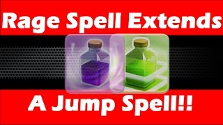 Clash Of Clans - Rage Spell Extends Jump Spell Radius!! Do Spells Effect Each Other?