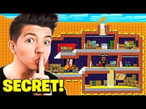 I Found Preston s SECRET Underground Lava Base in Minecraft
