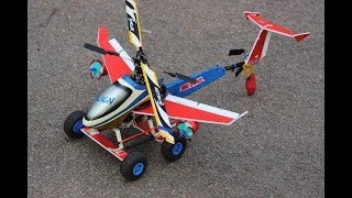 How to make a Helicopter Airplane - Aeroplane Helicopter - Car