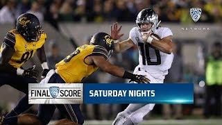 Highlights: No. 19 Oregon football forces five turnovers, uses balanced attack in win at No. 24 Cal