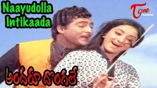Andaru Dongale Movie Songs | Naayudolla Intikaada Video Song | Shobhan Babu, Lakshmi