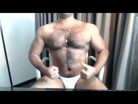Hairy Indian Muscle Chest Pumping