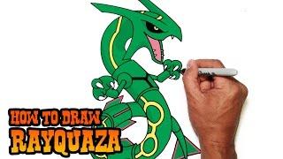 How to Draw Rayquaza | Pokemon