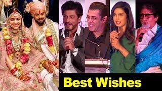 Bollywood Celebs Best Wishes For Virat Anushka Wedding/Marriage | Salman,Shahrukh,Amitabh,Priyanka