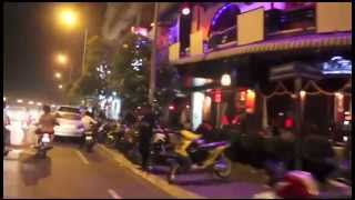 Beautiful night in Phnom Penh city, Cambodia.