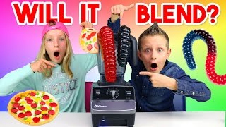 Giant Gummy Worm - Will it blend?