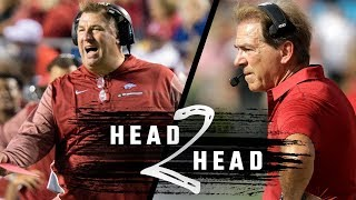 Head To Head: Alabama vs. Arkansas