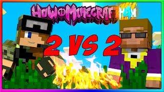 Minecraft - 2 VS 2!   Episode 109 of H4M (How to Minecraft Season 4)