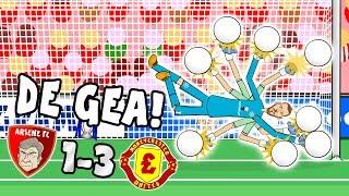 👐🏻DE GEA SAVES THE DAY👐🏻(Arsenal vs Man Utd 1-3 Parody Goals & Highlights 2017)