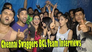 Chennai Swaggers BCL Team: EXCLUSIVE Interview Box cricket league 2018 Video: Watch