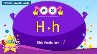 Kids vocabulary compilation - Words starting with H, h - Word cards - review