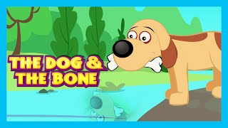 THE GREEDY DOG by KIDS HUT | The Greedy Dog Story in English | The Dog & The Bone