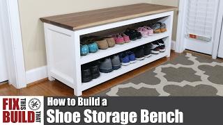 DIY Shoe Storage Bench | How to Build