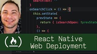 React Native Web Deployment (P7D8) - Live Coding with Jesse