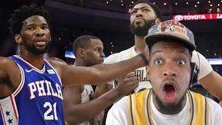 WOWW! DAVIS CHOKES THE GAME!! SIXERS vs PELICANS HIGHLIGHTS