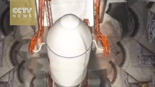 Watch: Preview of Long March-7 carrier rocket's launch preparation