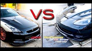 1400rwhp C6 Z06 vs. 1170whp SZM BLGTR 1300