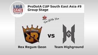 Dota 2: Rex Regum Qeon vs HighGround @Pro Dota Cup SEA #9 Group Stage with Shiva's & R1