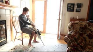 Homemade PVC Cello! sound test 2