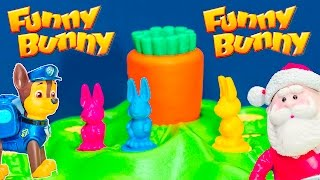 FUNNY BUNNY Game Paw Patrol + Santa Claus Play Funny Bunny Game Unboxing Toys Video