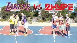 2HYPE vs LAKERS 3v3 BASKETBALL GAME ft AJ Lapray