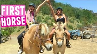 HORSEBACK RIDING WITH JESSIE!! (Her First Time) | Fruitocracy Field Trip
